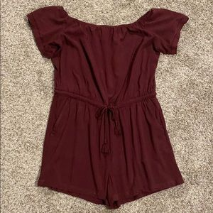 LOFT off the shoulder romper